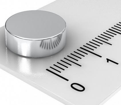 Imã de Neodímio Disco N35 12x4 mm  - Polo Magnético
