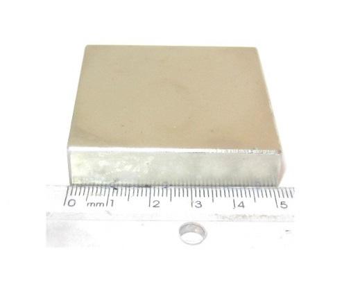 Imã de Neodímio Bloco N35 2x2x1/2 ou 50,8x50,8x12,7 mm  - Polo Magnético