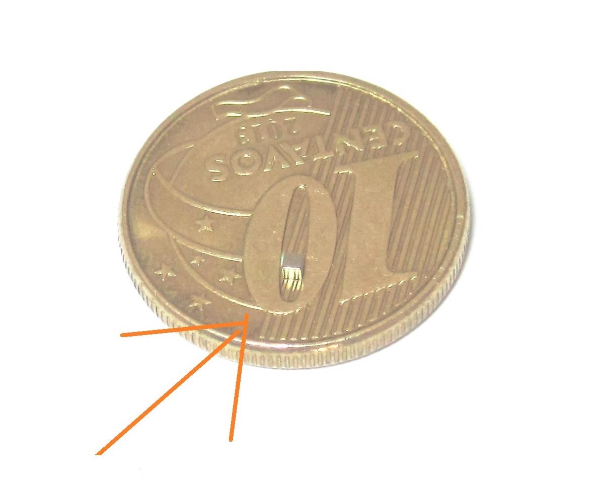 Imã de Neodímio Cubo N35 1x1x1 mm  - Polo Magnético