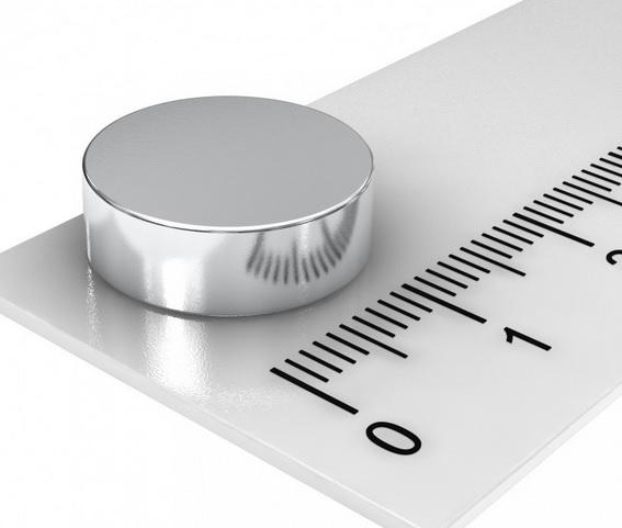 Imã de Neodímio Disco N35 15x4 mm
