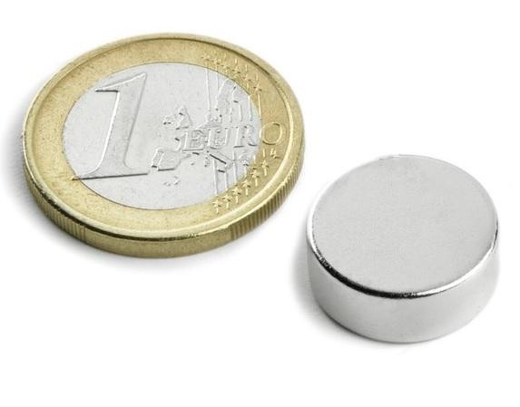 Imã de Neodímio Disco N35 15x4 mm  - Polo Magnético