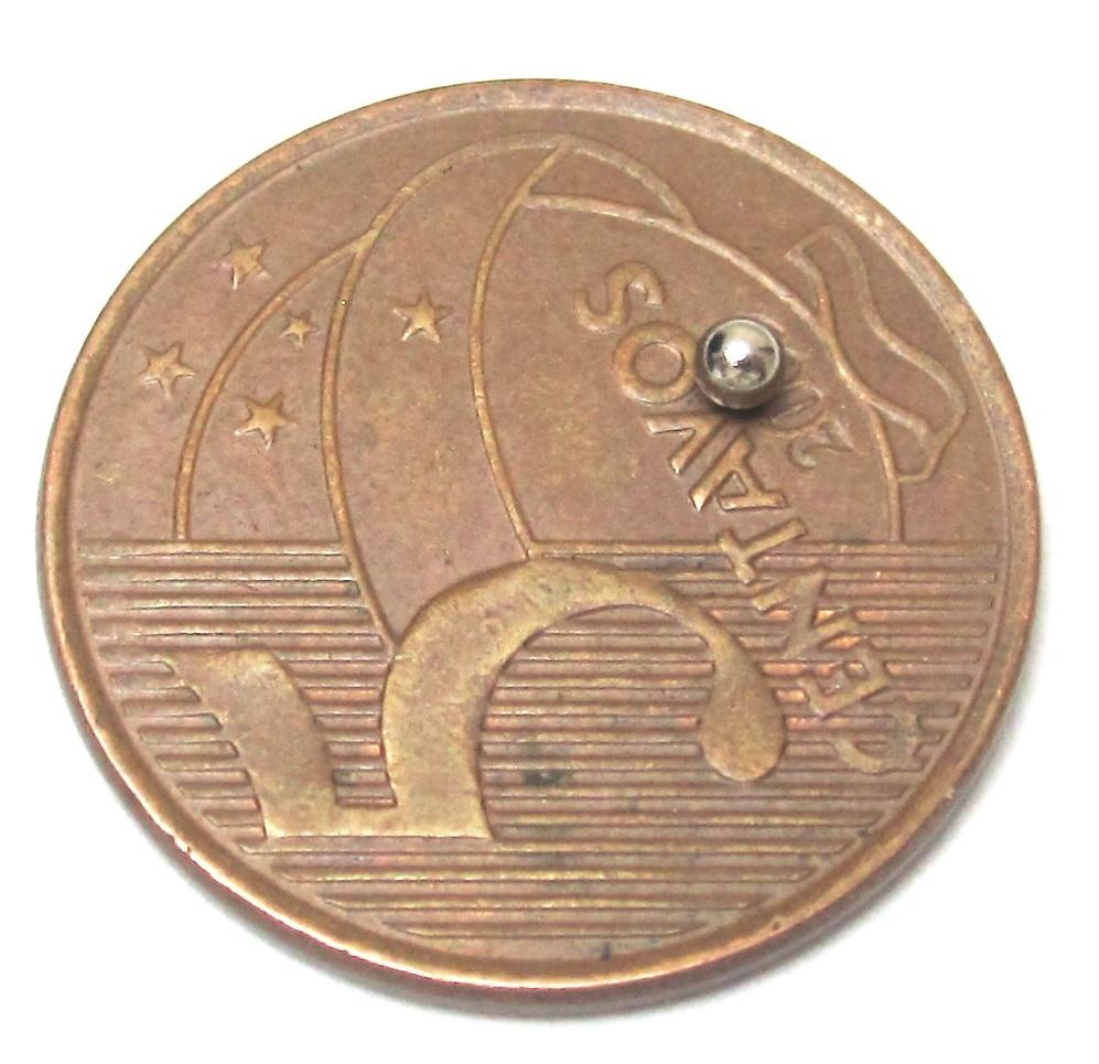 Imã de Neodímio Esfera N35 2 mm  - Polo Magnético