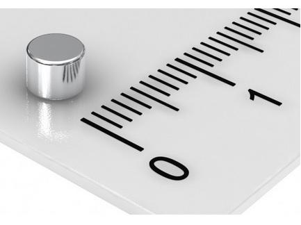 Imã de Neodímio Cilindro N35  4x4 mm