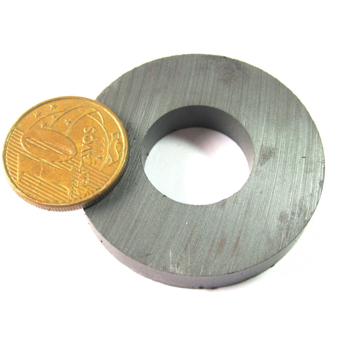 Imã de Ferrite Anel (cerâmica) Y30 40x18x7 mm