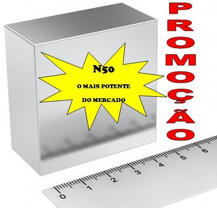 Imã de Neodímio Bloco N50 2x2x1