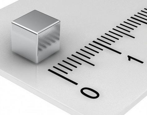 Imã de Neodímio Cubo N50  5x5x5 mm  - Polo Magnético