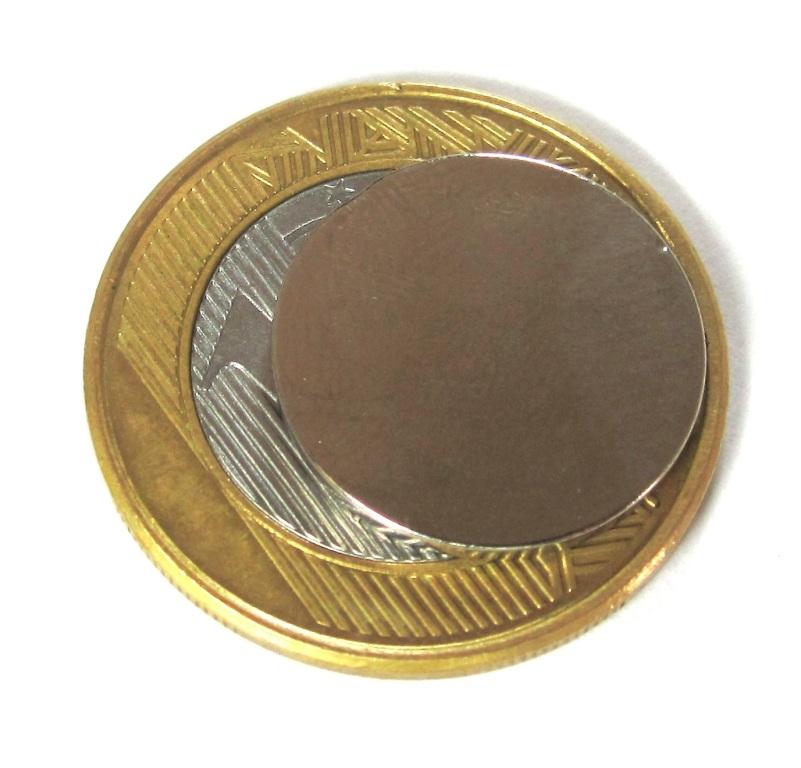 Imã de Neodímio Disco N35 18x1,5 mm  - Polo Magnético