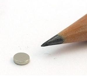 Imã de Neodímio Disco N35 4x1 mm