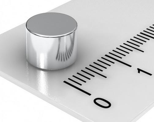 Imã de Neodímio Disco N35 8x6 mm  - Polo Magnético