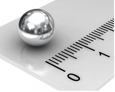 Ímã de Neodímio Esfera N40 9mm  - Polo Magnético