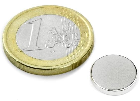 Ímã de Neodímio Disco N35 11x2 mm