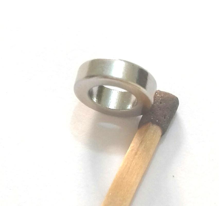 Imã de Neodímio Anel N42 10x6x3 mm  - Polo Magnético