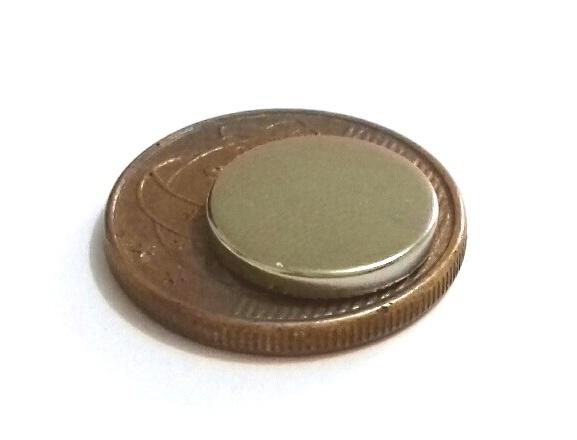 Imã de Neodímio Disco N35 12,5x2 mm  - Polo Magnético
