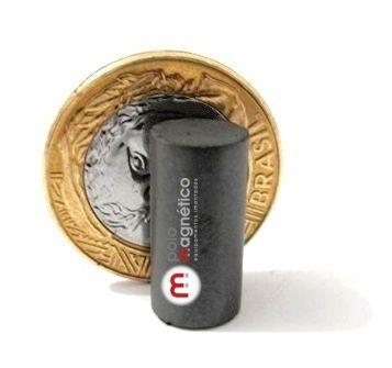 Imã de Ferrite Cilindro (cerâmica) Y30 10x20 mm  - Polo Magnético