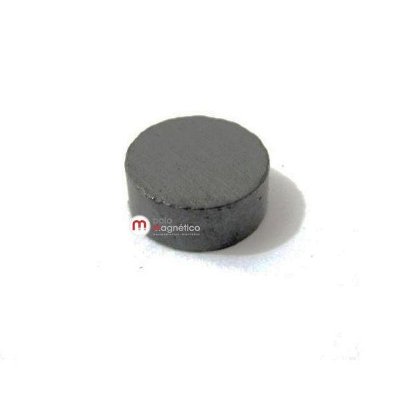 Imã de Ferrite Disco (cerâmica) Y30 10x4 mm  - Polo Magnético