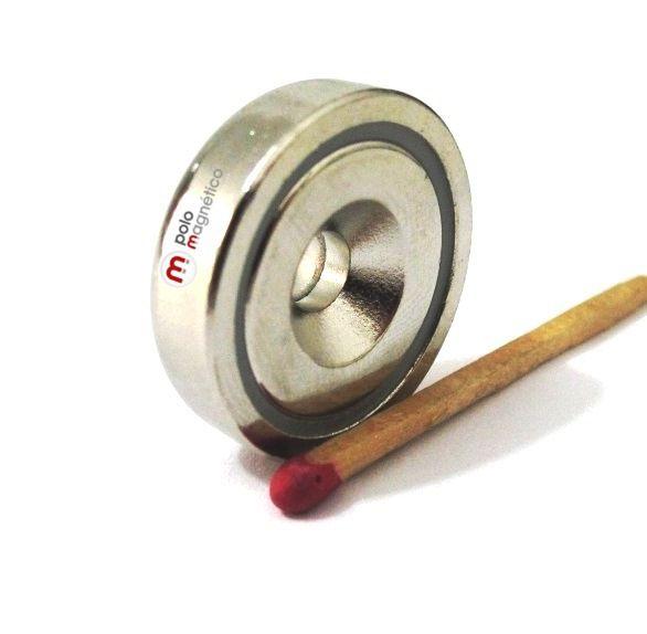 Imã de Neodímio 25 mm com furo  - Polo Magnético