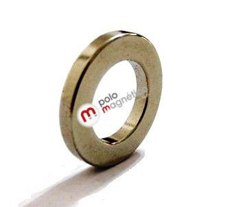 Imã de Neodímio Anel N35 23x14x3 mm  - Polo Magnético