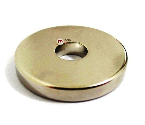Imã de Neodímio Anel N35 28x8x4 mm  - Polo Magnético