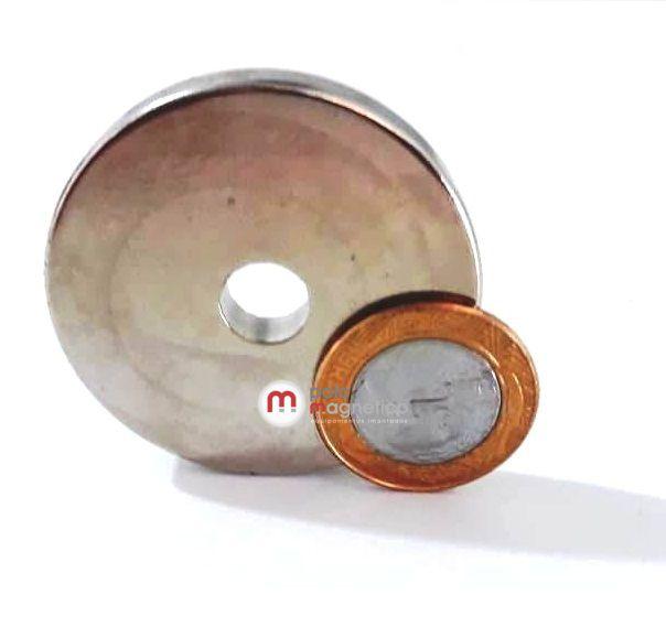 Imã de Neodímio Anel N42 50x10x7 mm  - Polo Magnético
