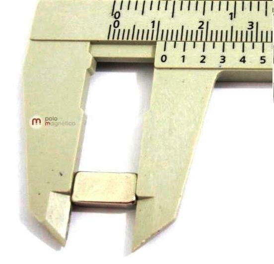 Imã de Neodímio Bloco N35 12x6x4 mm  - Polo Magnético