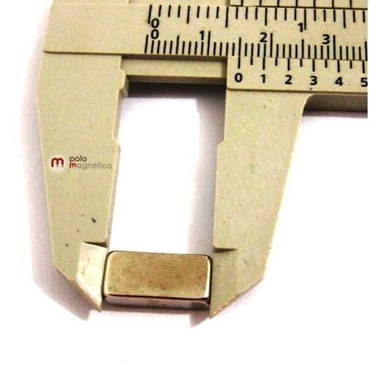 Imã de Neodímio Bloco N35 15x7x5 mm  - Polo Magnético