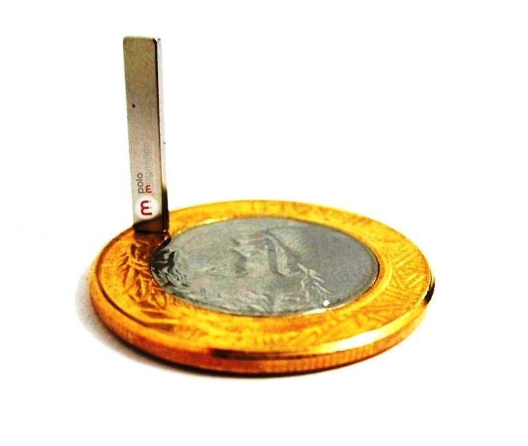 Imã de Neodímio Bloco N35 16x3x1 mm  - Polo Magnético