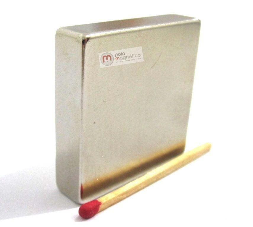 Imã de Neodímio Bloco N35 40x40x10 mm