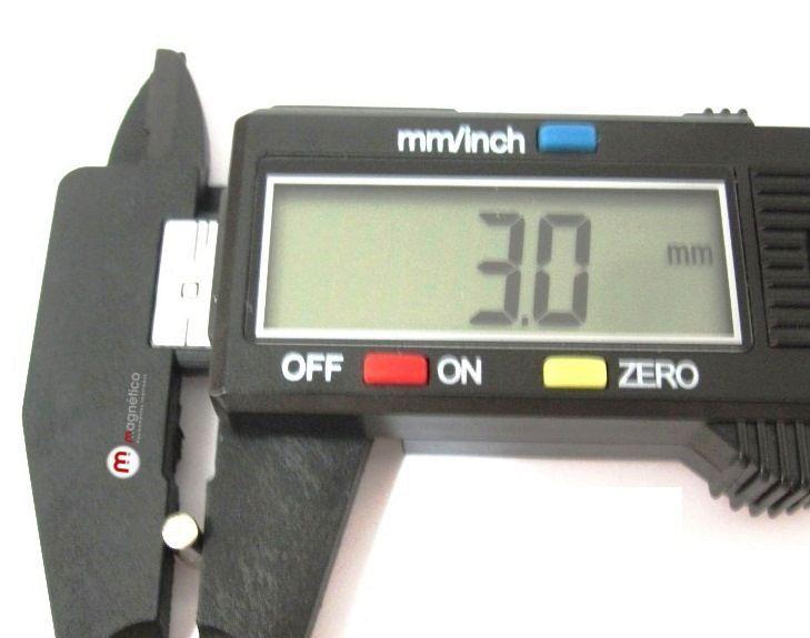 Imã de Neodímio Cilindro N35 3x4 mm  - Polo Magnético
