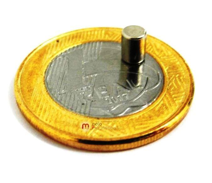 Imã de Neodímio Cilindro N35 4x5 mm