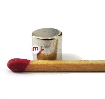Imã de Neodímio Cilindro N35 8x8 mm  - Polo Magnético