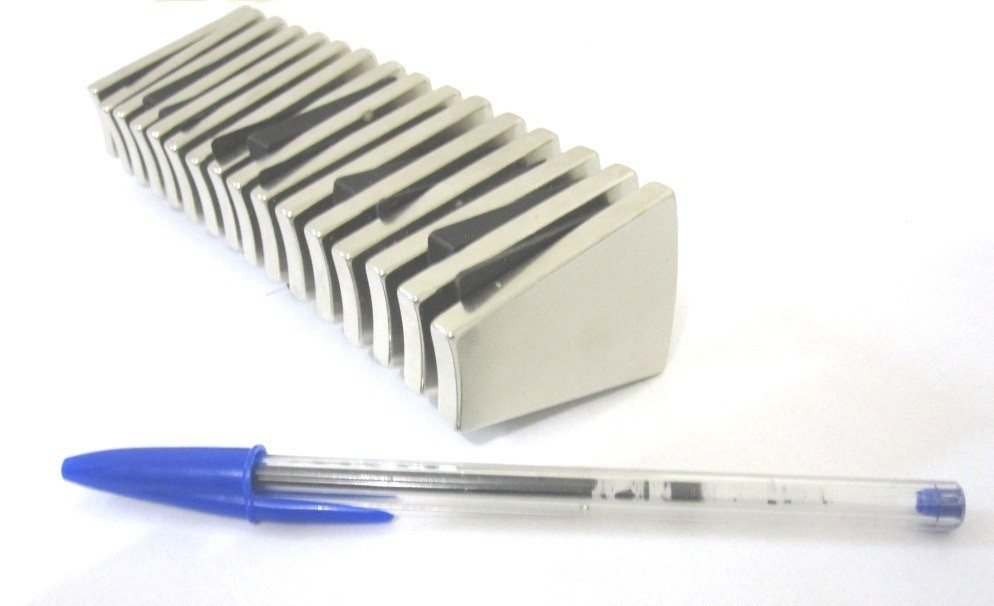 Imã de Neodímio Cunha N50 16 peças  - Polo Magnético
