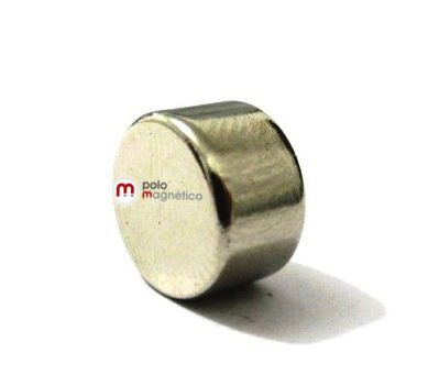 Imã de Neodímio Disco N35 10x6 mm