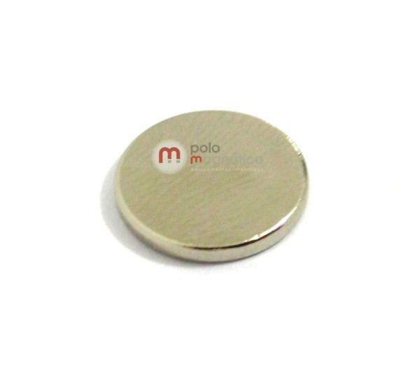 Imã de Neodímio Disco N35 12x1,5 mm  - Polo Magnético