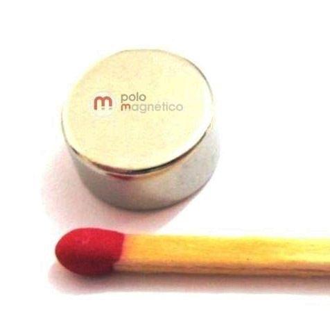 Imã de Neodímio Disco N35 12x6,5 mm  - Polo Magnético