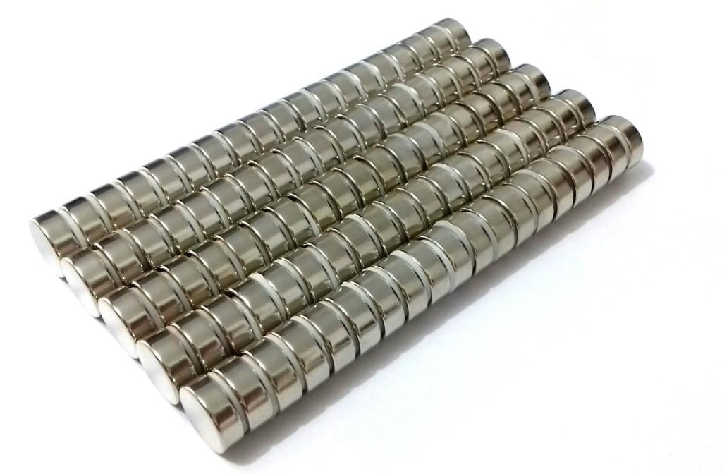 Imã de Neodímio Disco N35 13x5 mm 100 peças