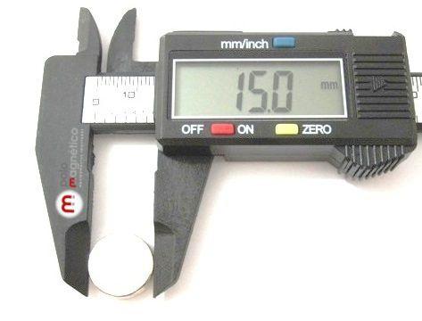 Imã de Neodímio Disco N35 15x1 mm  - Polo Magnético