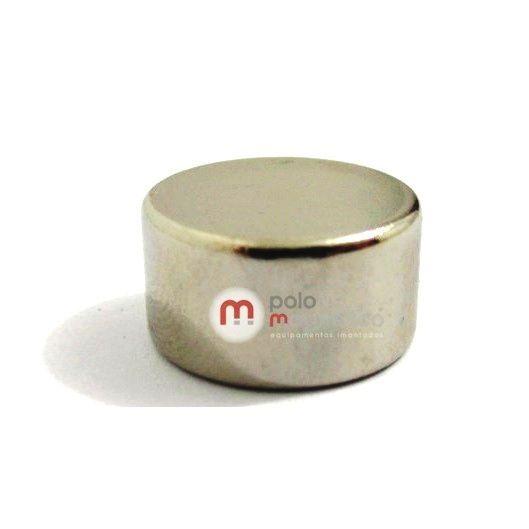Imã de Neodímio Disco N35 15x8 mm  - Polo Magnético