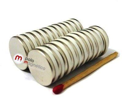 Imã de Neodímio Disco N35 18x2 mm  - Polo Magnético