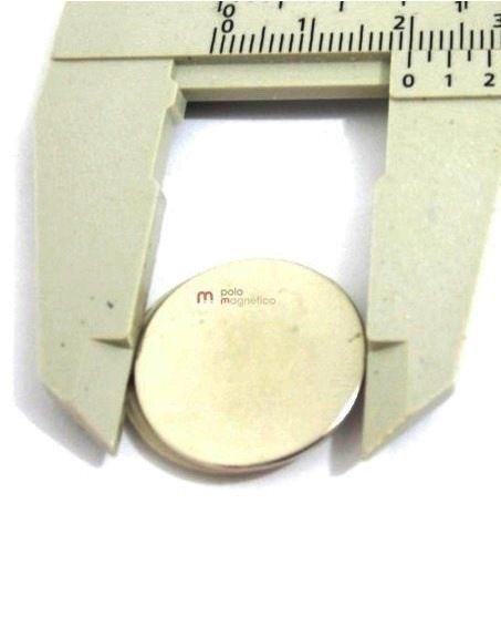 Imã de Neodímio Disco N35 20x1 mm  - Polo Magnético