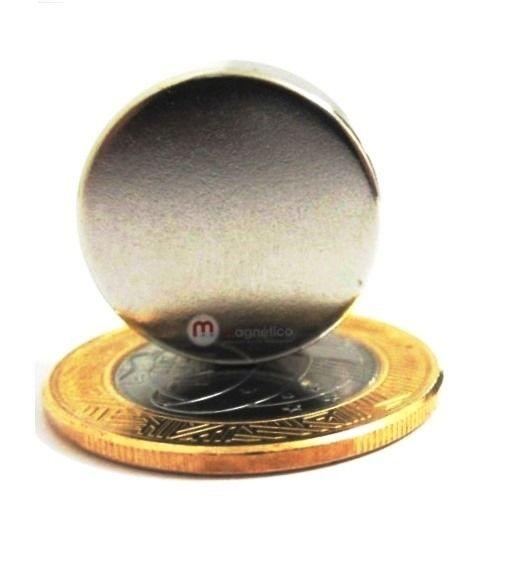 Imã de Neodímio Disco N35 20x7 mm  - Polo Magnético