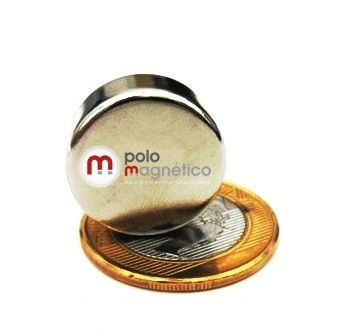 Imã de Neodímio Disco N35 20x8 mm  - Polo Magnético