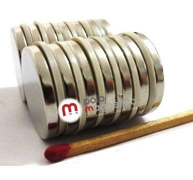 Imã de Neodímio Disco N35 22x3 mm  - Polo Magnético