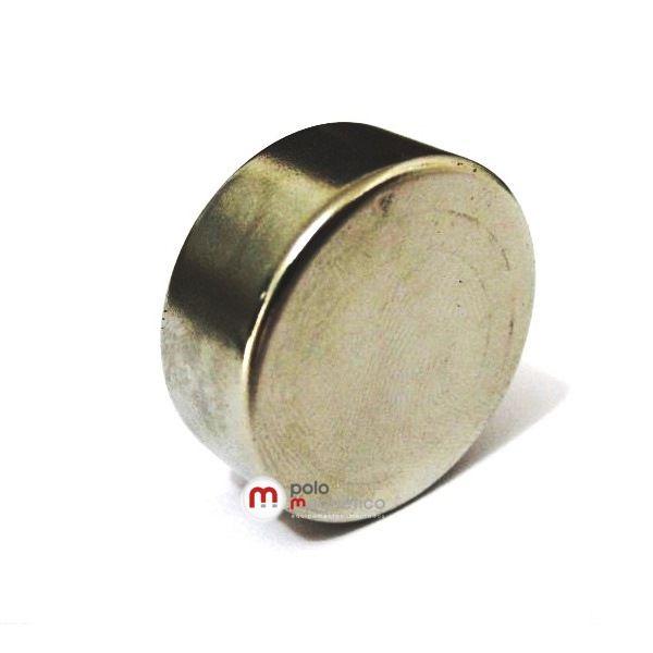 Imã de Neodímio Disco N35 25x10 mm