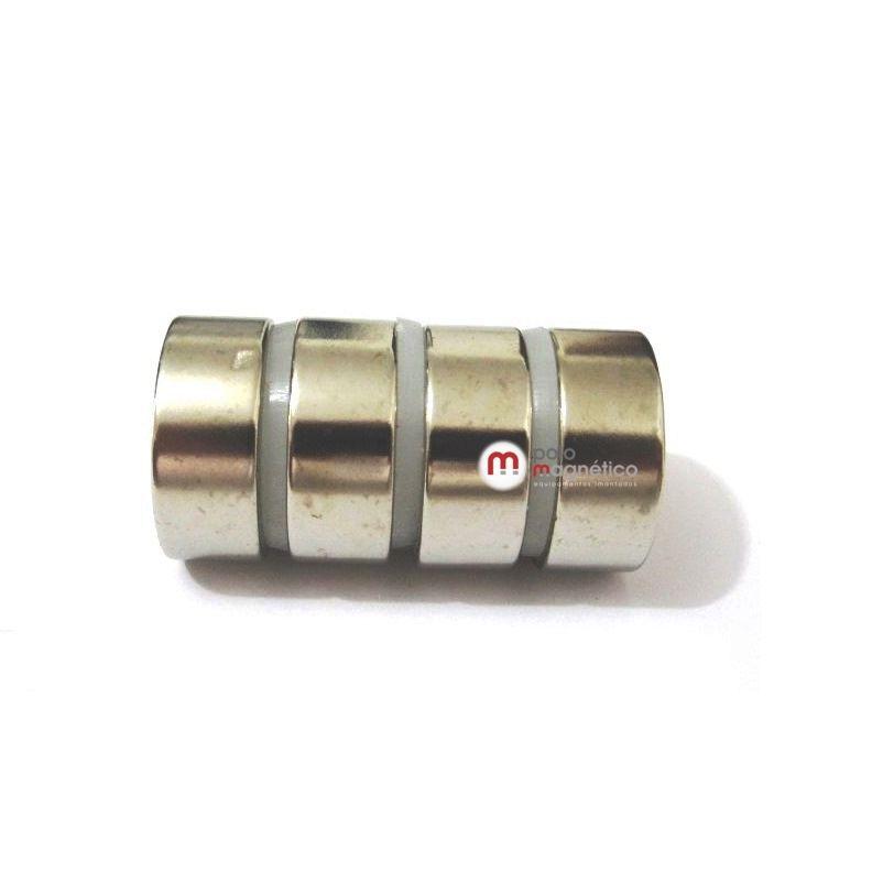 Imã de Neodímio Disco N35 25x10 mm  - Polo Magnético