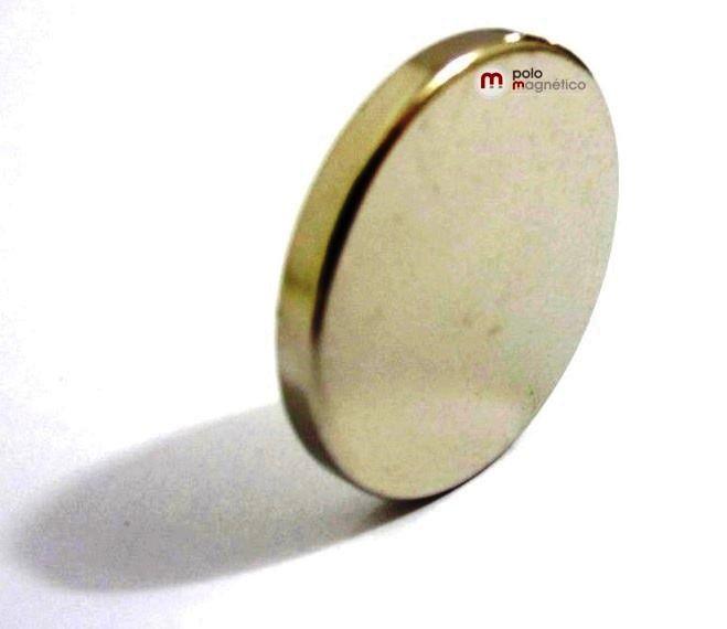 Imã de Neodímio Disco N35 25x3 mm  - Polo Magnético