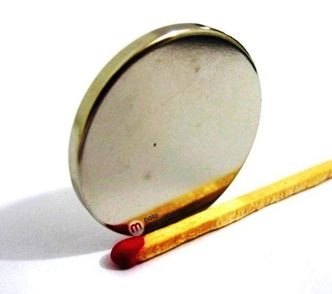 Imã de Neodímio Disco N35 30x3 mm  - Polo Magnético
