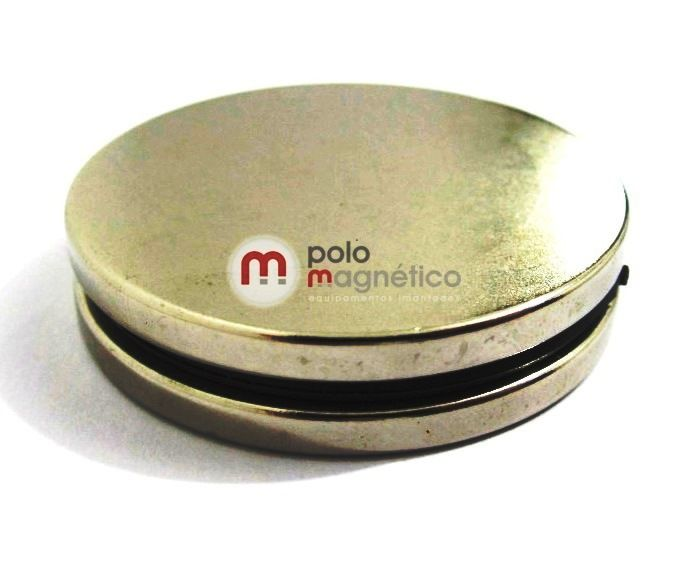 Imã de Neodímio Disco N35 45x4 mm  - Polo Magnético