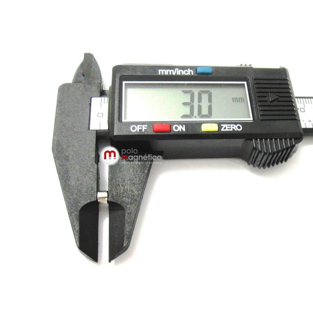 Imã de Neodímio Disco N35 4x3 mm  - Polo Magnético