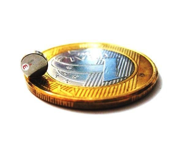 Imã de Neodímio Disco N35 5x1,5 mm