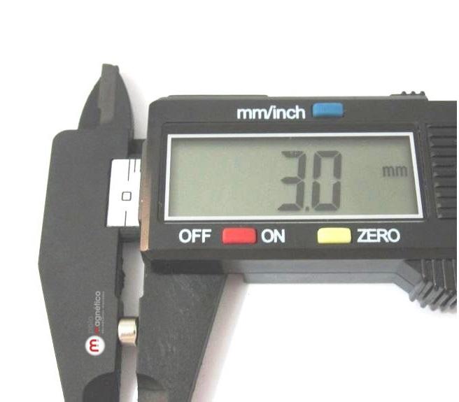 Imã de Neodímio Disco N35 5x3 mm   - Polo Magnético